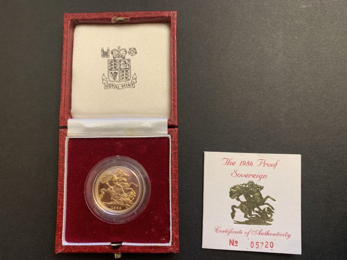1986  Proof Full Gold Sovereign